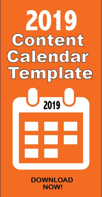 2019 Content Calendar Template