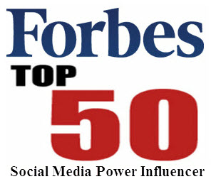 Forbes Top 50 Social Media Power Influencer