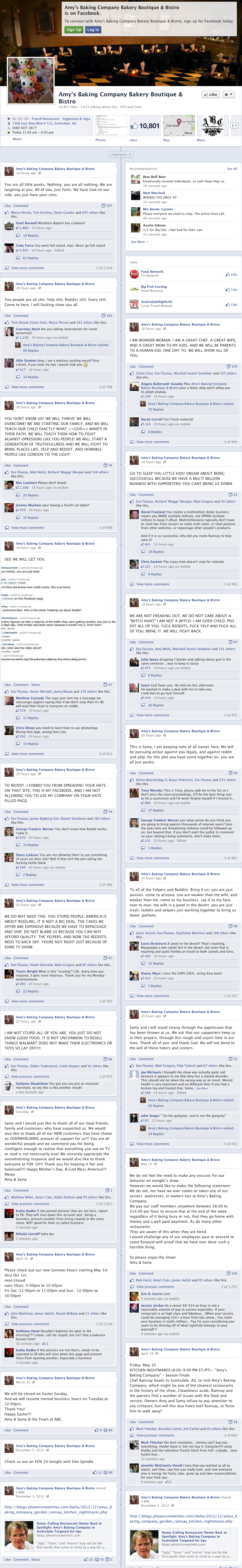Amys Baking Company Facebook Case Study: How Not to Manage Your Social Media   Amys Baking Company
