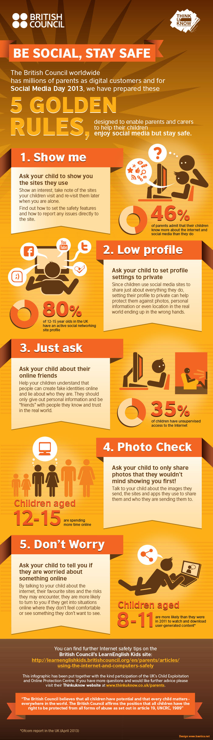 5 golden rules children stay safe online #staysafe british council