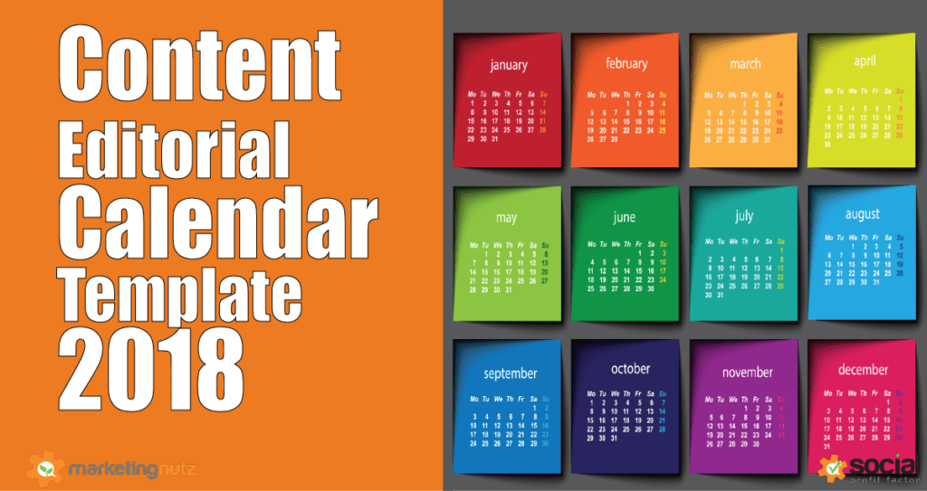 Content Marketing Trends Predictions Editorial Calendar - Content calendar template 2018
