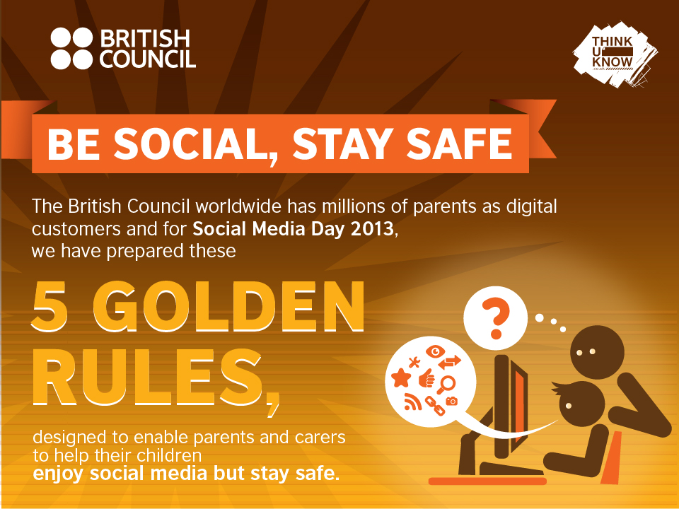 Golden rules to keep children safe on social media infographic