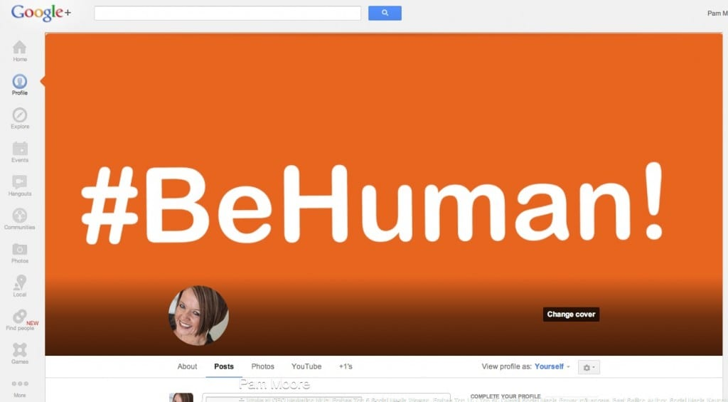 behuman blog final 1024x565 Google+ Gets a Refresh: Super Size Cover Image, Local Review Tab & More