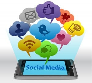 bigstock Social media on Smartphone 21485075 300x272 125 Ways to Integrate Social Media to Zoom Your Business 