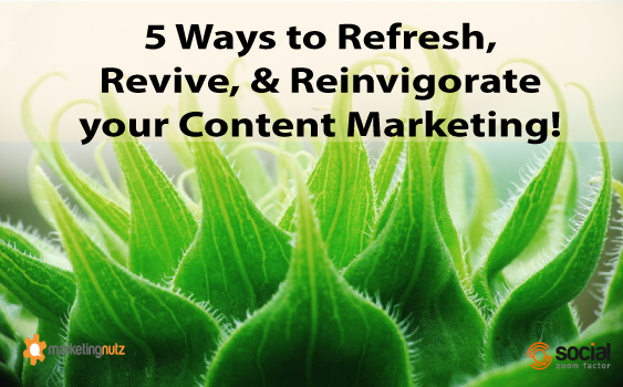 content blogging ideas refresh marketing website