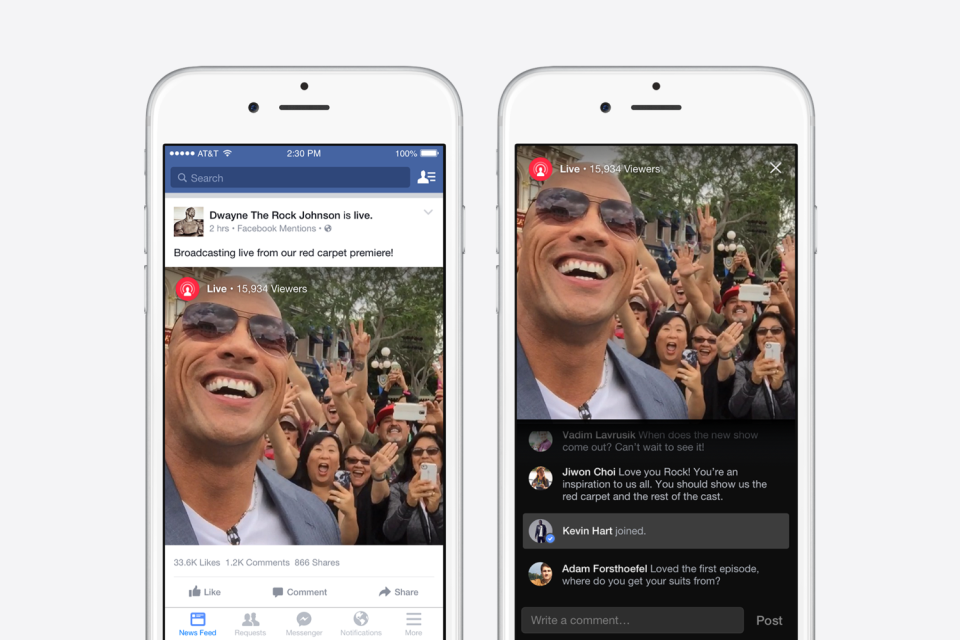 Facebook Mentions Live Mobile Video Streaming