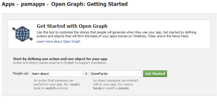 get started facebook open graph