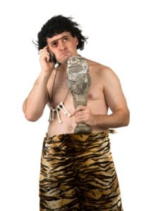 social media caveman