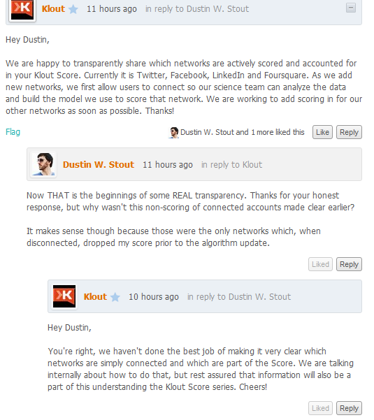 Why I Deleted My Klout Profile image klout network sharing lies