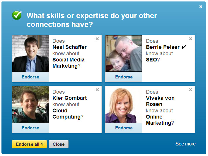 linkedin endorse 2 The New LinkedIn Endorsements: Are We Being Gamed LinkedIn?
