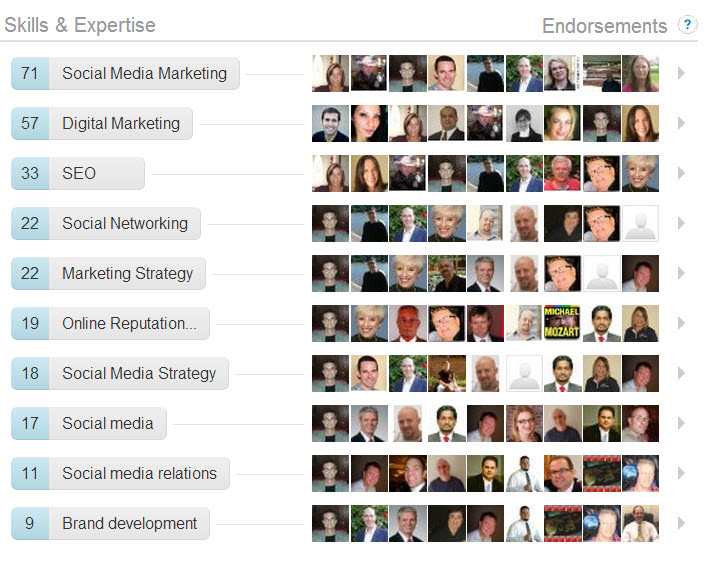 linkedin pam moore endorsements
