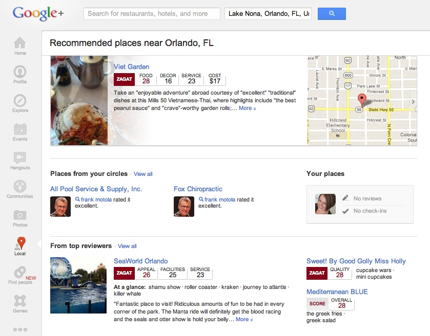 google plus local reviews