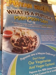 mayan grill popusa sign