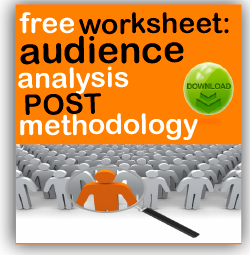 free post methodology audience analysis worksheet