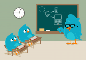 school for bluebird 300x211 Twitter Hashtag, Tweet Chat, & #GetRealChat Video Tutorial