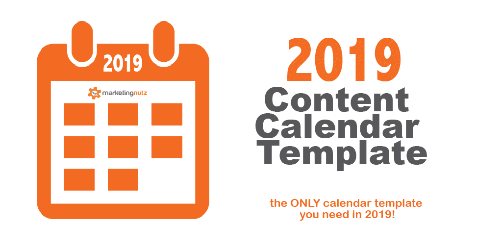 2019 Content Marketing Editorial Calendar Template for Digital and