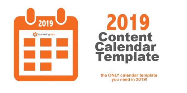 2019 Content Calendar Template Official
