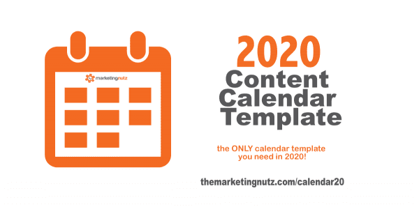 2020 Content Editorial Calendar Template for Social Media & Digital Marketers [free download]