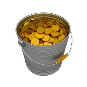 Bucket coins