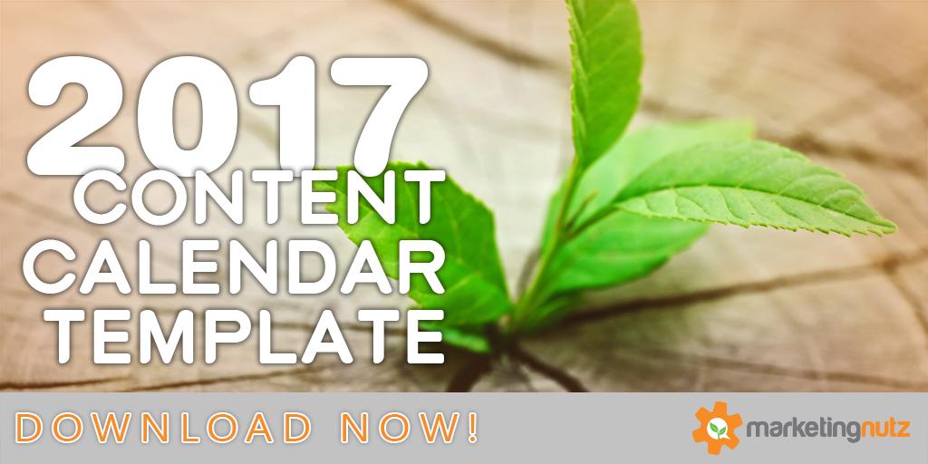 content marketing calendar template 2017