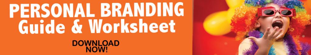 Personal Branding Guide and Worksheet Marketing Nutz