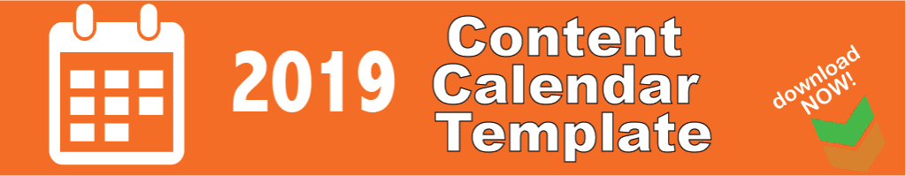 Content Calendar Template 2019 Strategy Download