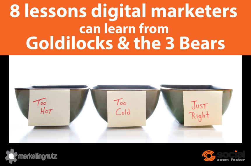 digital marketers goldilocks and the three bears tips