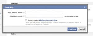 new app name space 300x118 How to Enable Facebook Timeline NOW!