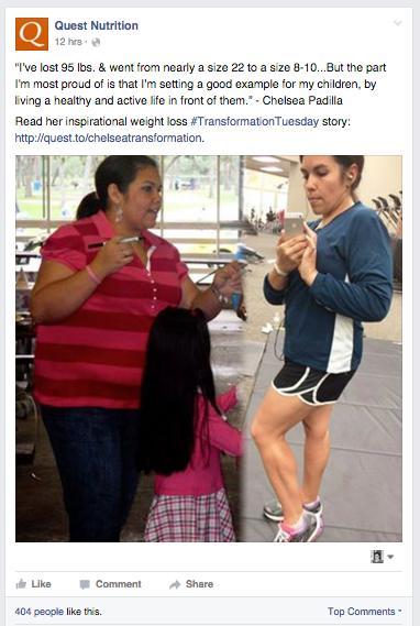 quest nutrition facebook