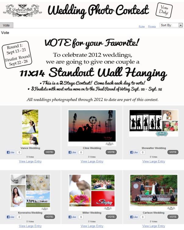 Facebook Photo Contest Example